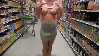 Caught Flashing In The Grocery Store
